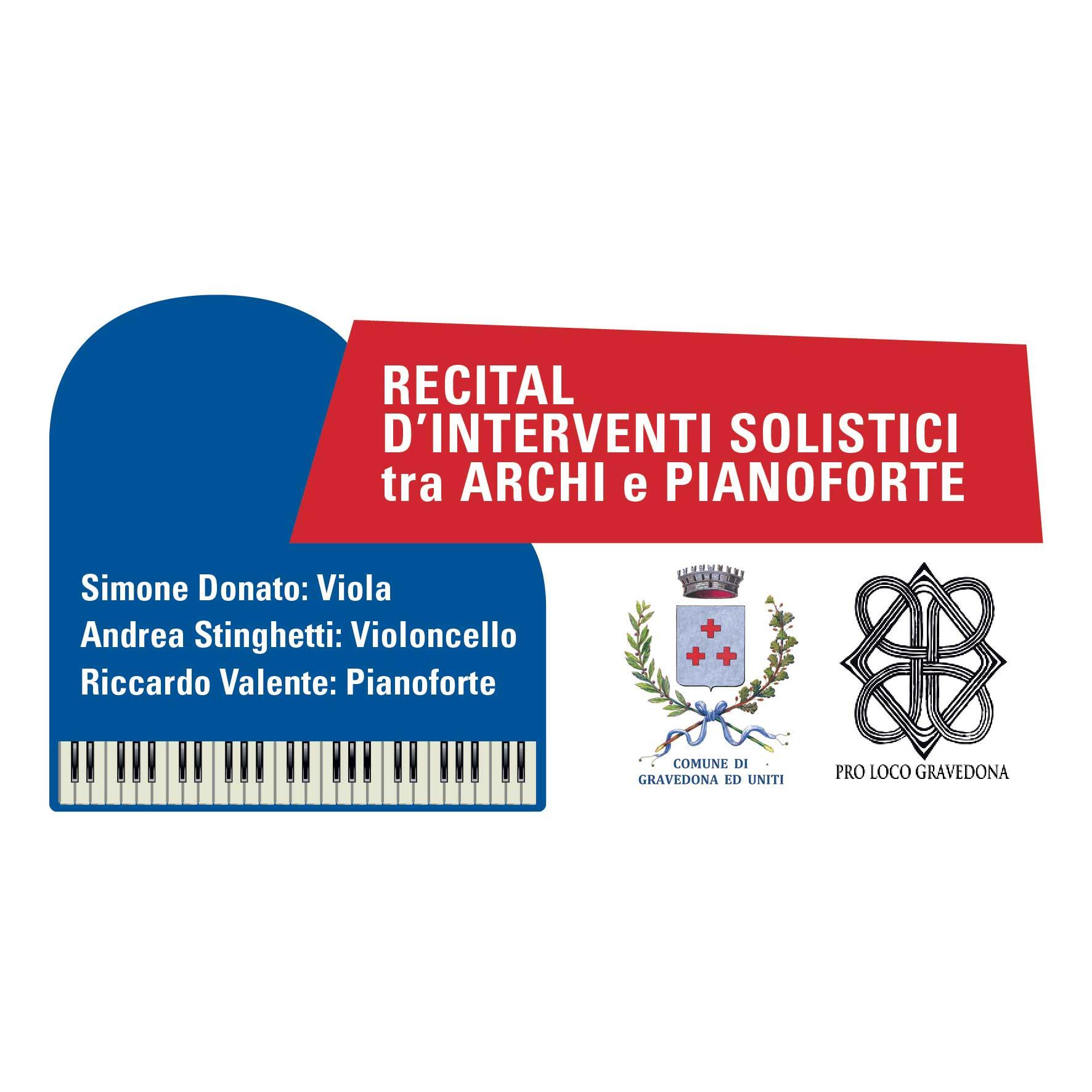 Recital d'interventi solistici tra archi e pianoforte