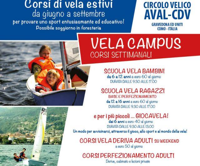 VELA CAMPUS: corsi di vela estivi 2018